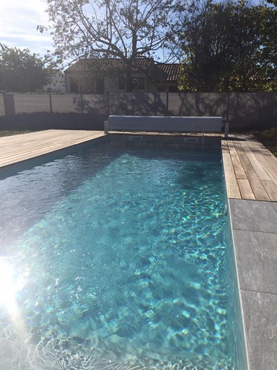 Encore une belle r alisation piscine de 3 50 x 9 00 for Piscine liner gris