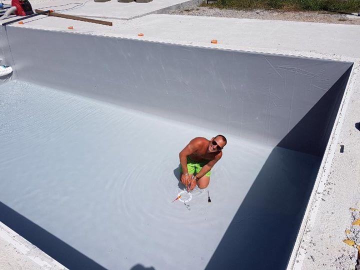 Un client heureux  qui nous envoie des photos de sa mise en eau   Content de voi…